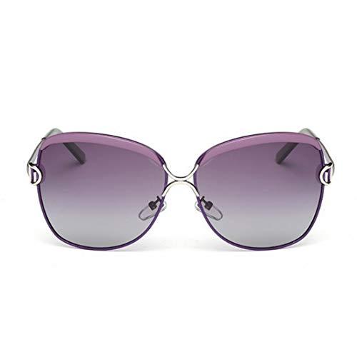 Easy Go Shopping Frauen und Mann Sonnenbrillen zweifarbige reflektierende Linse Classic Frame Unisex Schutzlinse. Sonnenbrillen und Flacher Spiegel (Farbe : Lila)