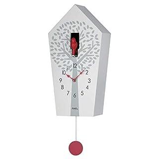 AMS Uhrenfabrik Clock, Silver, 39 x 11 x 306 cm