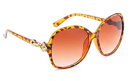 Epinki Damen Polarisiert Sonnenbrille Sonnenbrille Retro Brille UV400 Schutz | Vollrand | für Alltag, Party, Fahren - Braun-1
