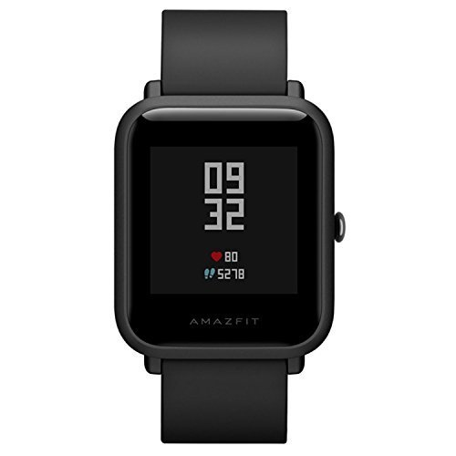 Amazfit Bip Huami SmartWatch Bit mit GPS, Pulsmesser, Fitness Tracker IP68 Wasserdicht, 45 Tage Standby International Version (Corning Gorilla Glas Iphone 4)