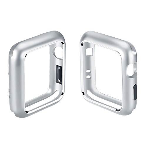 Vamoro Robustes TPU Schutzhülle Stylisch Karbon Design Case Cover(Silber)