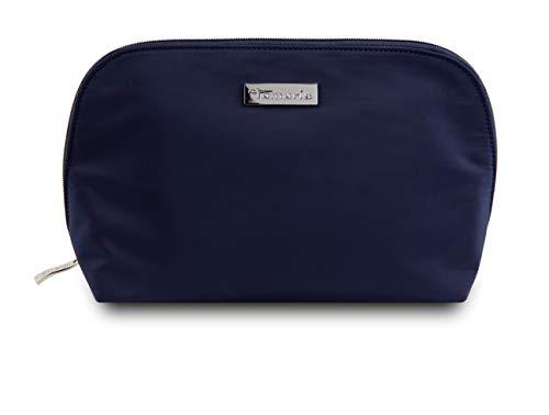 Tamaris Perfect Kleine Kosmetiktasche Damen für die Handtasche, Schminktasche Make Up Tasche mit Reißverschluss (S), Navy Blau