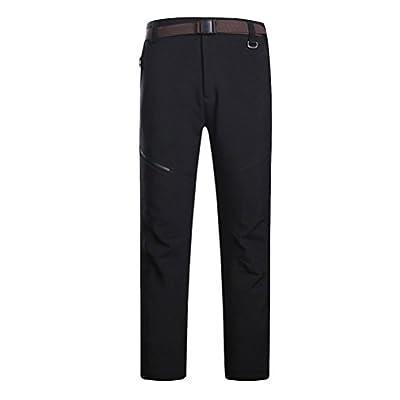Zhuhaitf Herren Thermic Pants Softshell-Hose Fleece Hosen Wärmend Fleece Freizeithose Multi-pockets Walking Trousers Waterproof Trousers Side-Elastic Cargo Pants