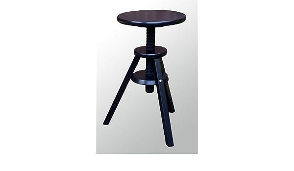 Ikea Svenerik Swivel Stool Height Adjustable Solid Wood Seat Height