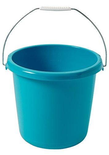 CURVER Eimer 10L in Molokai blau, Plastik, türkis, 29.5x29.5x25.5 cm