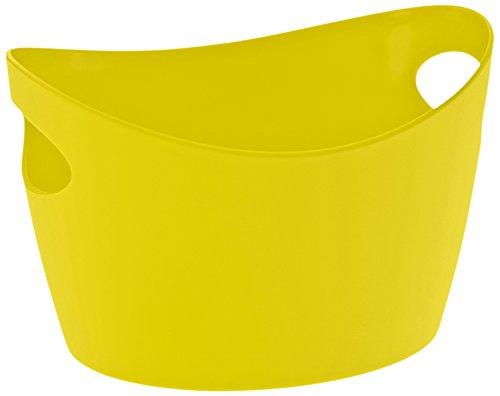 Koziol 5734582 Cache-Pot, Plastique, Vert Moutarde, 28 x 28 x 18 cm