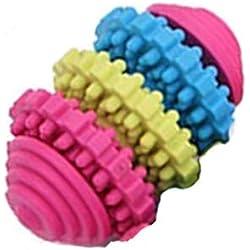 Mein Ji 3 Stück kleines Hundegetriebe für Haustiere Chew Spielzeug für Zahnarzt und interaktive Ausbildung Spielzeug Weich Natur Ring aus Gummi des Hundes Spielzeug Farbe