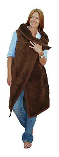 MeroWings 4260190312048Robe Brown Short coperta, 140x 115cm