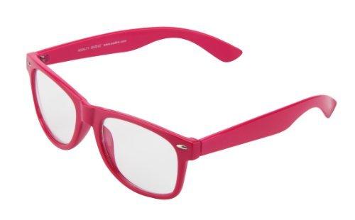 Sonnenbrille Nerdbrille retro Artikel 4026-71 pink / klar / transparent