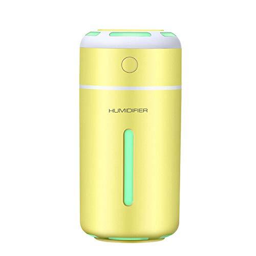 RONSHIN 7 Farben LED Ultraschall Ätherisches Öl Diffusor Mini Aromatherapie Luftbefeuchter Gelb (Platz Luftbefeuchter Filter)