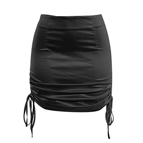 Krinoline Tasche Hüftrock Frauen Sommer Einfarbig Verbandrock Hohe Taille Petticoat Reifrock Rock ()