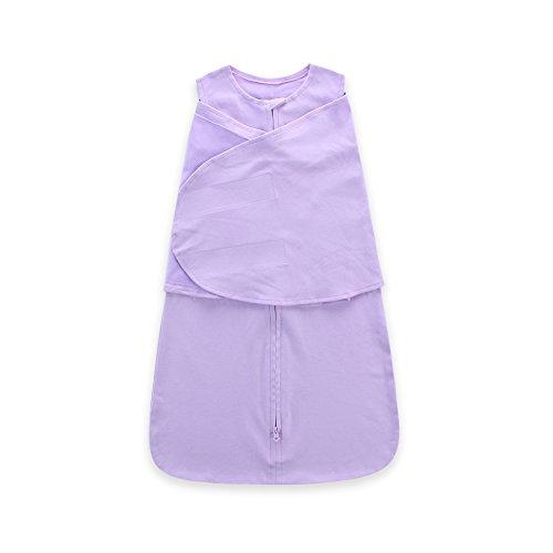 Preisvergleich Produktbild 90Punkte Baby Pucksack, Schlafsack, Baumwolle verpackt Baby Sleep Sack mit Flügeln Wickeln Für 4Jahreszeiten Pure Color-1PACK