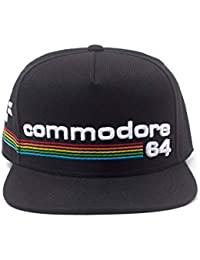 new product 8ecc4 f0bd6 Difuzed Commodore 64 Embroidered Full Rainbow Logo Snapback Baseball cap,  Black (SB108477C64),