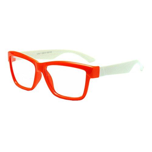 Hibote Mädchen Junge Brillen - Silikon - Clear Lens Glasses Frame Geek/Nerd Brillen mit Car Shape Gläser Fall - 18071006