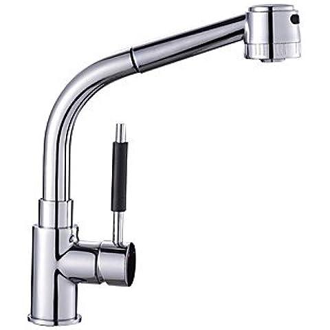 Rubinetto da cucina rubinetti lavello da cucina lavello rubinetto rubinetto moderno Pre Sciacquare ottone nichel spazzolato rubinetto miscelatore