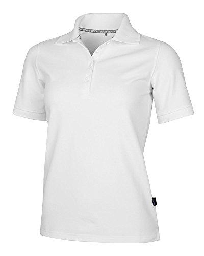 agon - Premium Damen Pique Polo-Shirt, bügelfrei, Coolmax, Coldblack, UV-Schutz, Geruchsblocker, atmungsaktiv, Kurzarm Reinweiß 46/3XL - Frauen Polo-shirts
