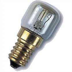 15W 240V Oven lamp, Fits Many Ovens, ES, E14 Thread, T22 Lamp Style, 300 Degrees Temperature Rating