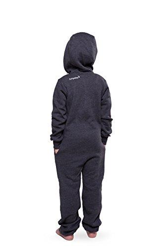 Jumpster Jungen und Mädchen Jumpsuit Overall Exquisite Kids Schwarz L (140-146) - 2