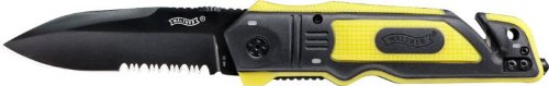 Walther ERK Emergency Rescue Knives Yellow (Edelstahl Gummi-messer Aus)