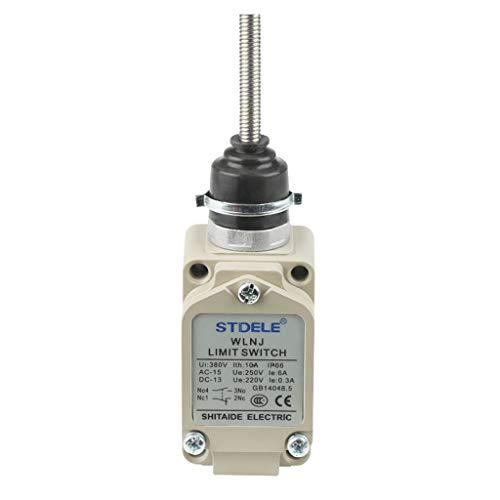 perfk Metall Endschalter Grenztaster Mikroschalter Wechselschalter mit Doppelfeder Kontaktträger - WLNJ -