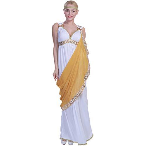 Kostüm Göttin Wasser - EraSpooky Damen Griechische Göttin Kostüm Toga Faschingskostüme Halloween Party Karneval Fastnacht Kleidung für Frauen