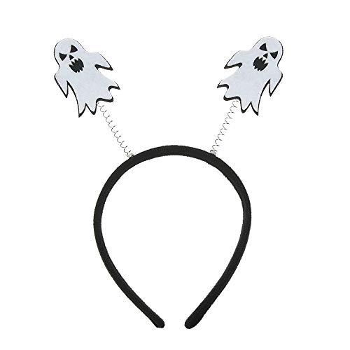 Igorw Halloween Stirnband Kürbis-Geist-Eule Katze Haarschleife Cosplay Teufel Kopfbedeckung Masquerade Haarschmuck (Geist) (Eule Kostüm Stirnband)