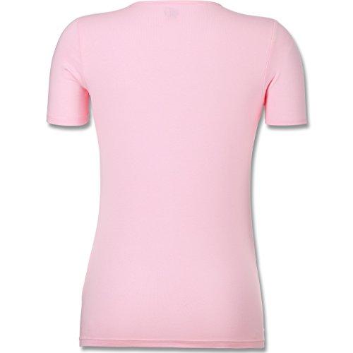 Shirtracer Statement Shirts - But First Coffee - Kreide-Lettering - Tailliertes T-Shirt mit V-Ausschnitt für Frauen Rosa