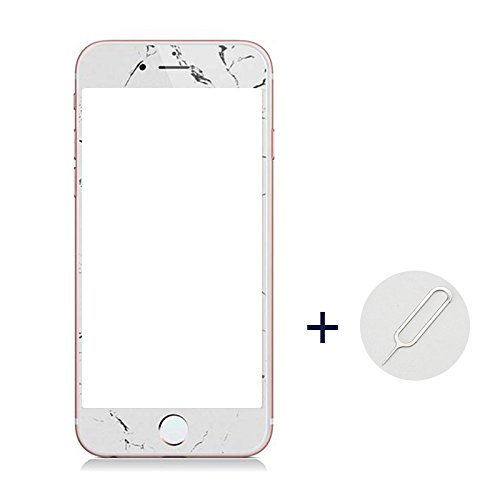 Preisvergleich Produktbild JINSANSHUN Neumodisch iPhone 7 HD 5.5 Zoll Vor Schutzfolie Gehärtetem Glas Folie Panzerglas Displayschutzfolie Sicherheitsglas für iphone 7 plus mit Sim Karte Scheckkartenstift - weiß