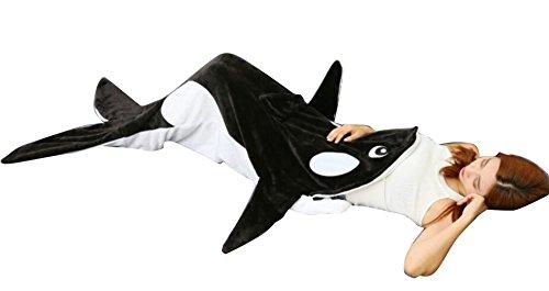 Brinny Haifisch-Eulen-Krokodil Decke Flosse Schwanz Decke Handgemachte Gestrickte Schlafsack Wohnzimmer Kuscheldecke Decke Kostüm für Erwachsene und (Schwanz Krokodil Kostüme)