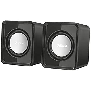 Trust 19830 Leto 2.0 Compact PC Speakers for Computer and Laptop, USB Powered, 6 W, Black