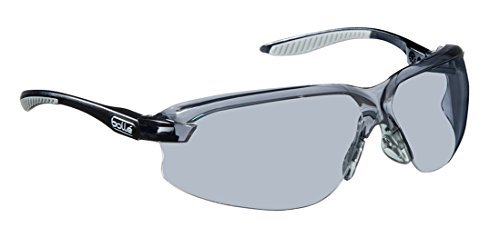 Boll? Safety 253-AX-40033 Axis Safety Eyewear with Black/Gray Polycarbonate + TPR Rimless Frame and Smoke Lens by Boll? Safety