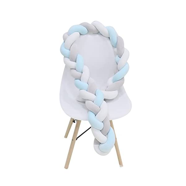 elegantstunning Baby Crib Bumper Knotted Braided Plush Nursery Pillow Cushion elegantstunning Made of high quality material, soft and comfortable, safe, durable. Avoid your baby's head, legs or hands bumping into crib, keeps your little ones safe. Fits all baby cribs or toddler stroller carriage, flexible to use. 9