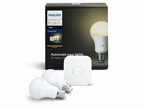 Philips Hue White LED Lampe 9,5 W, EEK A+, A60 E27 Starter Set inklusive Bridge, 2-er Set - 3