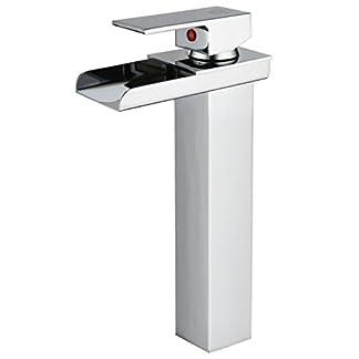 31eXAa1GH0L. SS324  - DP Grifería - Grifo monomando LED de lavabo alto efecto cascada ,modelo Aries