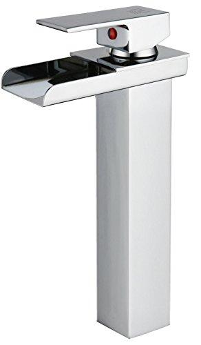 DP Grifería – Grifo monomando LED de lavabo alto efecto cascada ,modelo Aries