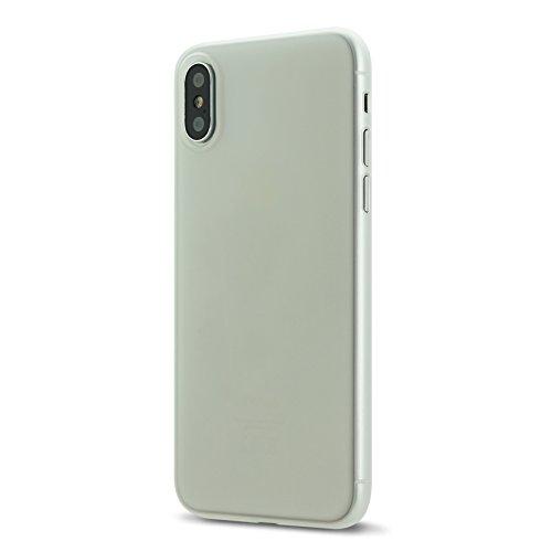 Custodia di iPhone X,UltraSlim Case per Apple iPhone X sottilissimo la più sottile duro custodia protettiva del mondo Mat semi transparente Copertura Cover per iPhone X 5.8 pollici risplendente blu bianco