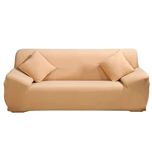 Ericcay Jian Ya NA Pure Color Sofa Bezüge Elastischer Schonbezug Unikat Stretch Weicher Couch Antifaltencremes Sofa Schutzfolie Home Beige (Color : Camel, Size : Size)