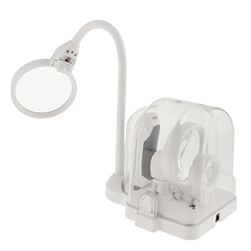 Sharplace LED Beleuchtete Helfende Hand Lupe 2,5 x 5x 16x Vergrößerung Vergrößerungsglas LED...