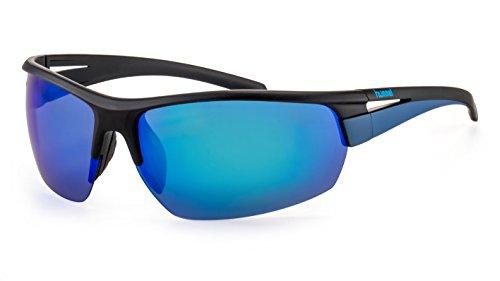 Polarisierte Sportbrille von hummel/Leichte Herren Sonnenbrille mit verspiegelten Gläsern F2504588