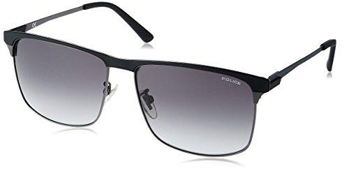 Police Sunglasses Herren Crossover 2 Sonnenbrille, Grau (Matt Gunmetal)