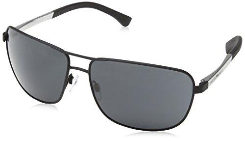 Emporio Armani Unisex 309487 Sonnenbrille, Schwarz (Black Rubber), X-Large (Herstellergröße: 64)
