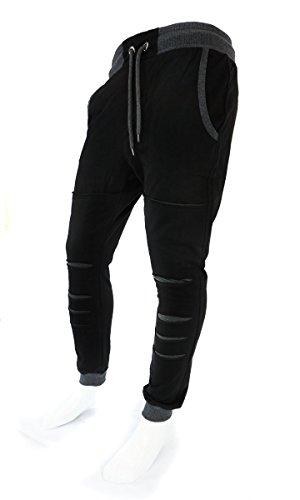 Pantaloni da uomo di Jogging yoga Sport Fitness Nuovo S-XL 0469 Black