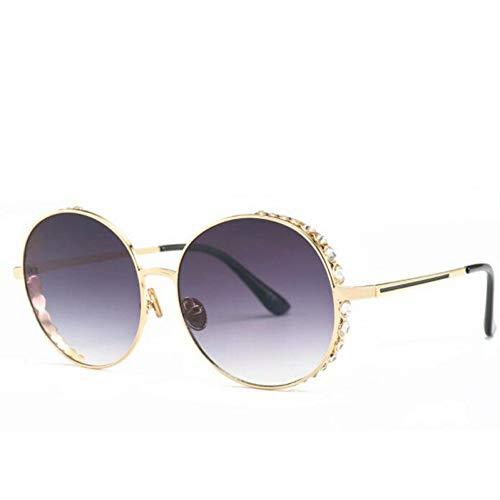 HYUHYU Übergroße Runde Sonnenbrille Frauen Uv400 Retro Kristallrahmen Gradienten Sonnenbrille Für Weibliche Oculos Eyewear