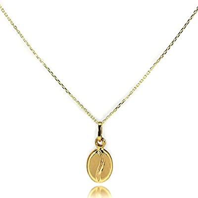 9ct Gold Coffee Bean Necklace by Sayers London