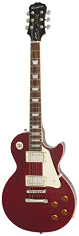 Epiphone Les Paul Standard Plus-Top Pro E-Gitarre mit Coil-Schaltung (Weinrot lackiert, Palisander Griffbrett, Mahagoni Korpus und Hals, ProBucker Pickups)