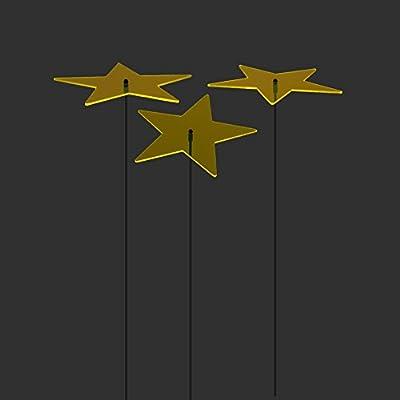 """SUNPLAY Sonnenfänger """"Sterne Lisa"""" in GELB, 3 Stück je 10 cm Durchmesser im Set + 35 cm Schwingstäbe von SUNPLAY - Du und dein Garten"""