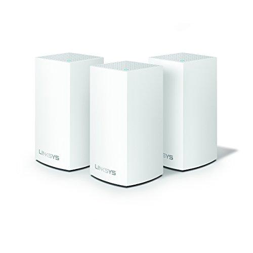 Linksys Velop AC3600 intelligentes WLAN Modulsystem (Funktioniert mit Amazon Alexa, 3-Pack, Weiß, bis 350m2, Einfache Installation, maximierte Reichweite und Geschwindigkeit)