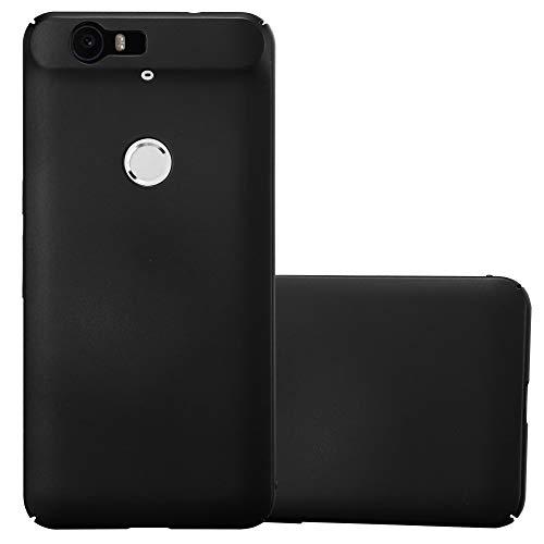 Cadorabo Hülle für Huawei Nexus 6P - Hülle in Metall SCHWARZ – Hardcase Handyhülle im Matt Metal Design - Schutzhülle Bumper Back Case Cover