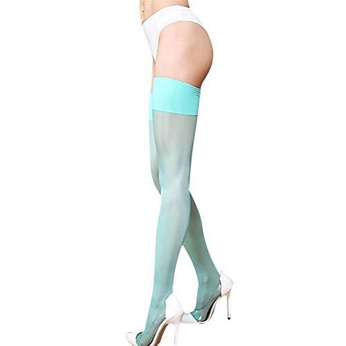 YDZY Frauen Sexy Sexy Strümpfe 8 Farben Sexy Schwarz Rot Blau-Rosa-Grün-Schenkel Hohe Strümpfe Frauen Solid Color über Knie Lange dünne Strümpfe ohne Hose (Color : 05, Size : One Size)