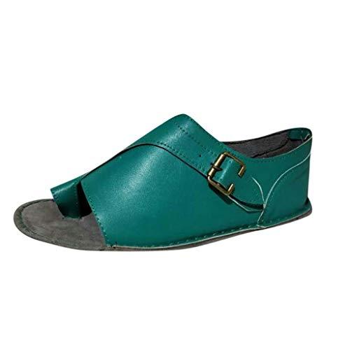 BASACA Sandales Femme Printemps Été Chaussures Corriger Gros Orteil Mocassins Compensés à Bout Ouvert Cheville Beach Loisir Chaussons Mode 2019